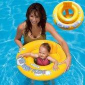 Intex 59574 Sarı Bebek Floator 67 Cm Bebek Deniz Simidi
