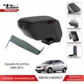 Bylizard Hyundai Accent Era 2006 2012 Delmesiz Çelik Ayaklı Armor 2 Kolçak Kol Dayama Siyah