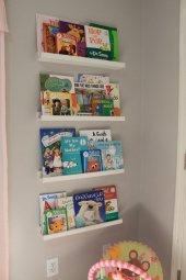 Ceebebek Ahşap Duvar Raf Bebek Çocuk Odası Montessori Beyaz Kitaplık 4byzl40 Ücretsiz Kargo