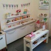 Ceebebek Ahşap Duvar Raf Bebek Çocuk Odası Montessori Beyaz Kitaplık Dörtlü 2l802cbk40