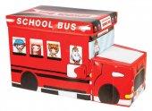 Alas Katlanabilir Oyuncak Saklama Kutusu School Bus Kırmızı