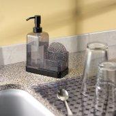 Sünger Hediyeli Akrilik,çelik Süngerlikli Sıvı Sabunluk