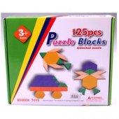Piramigo 125 Parça Ahşap Eğitici Tangram Puzzle Blok Seti