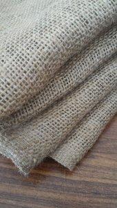 Telis Bezi Kanaviçe Kumaş 1x7 7 M2 10luk Sık Dokulu Jüt Kumaş Kendir Kumaş Çuval Kumaşı Süsleme Kumaşı