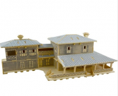 Piramigo 3d Büyük Ahşap Ev Maketi American Villa