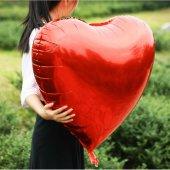 Folyo Kalp Balon Kırmızı 100 Cm 1 Adet