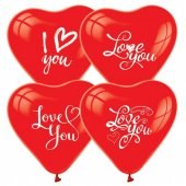 15 Adet Kırmızı Kalp Balon 2 Model