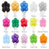 Metalik Parlak Balon 100 Adet Renk Renk Çeşit