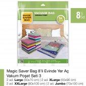 Magıc Saver Bag 8li Evinde Yer Aç Vakumlu Poşet Seti 3