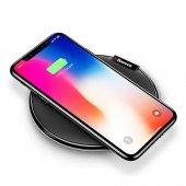 Baseus İx Samsung Galaxy S8 Plus Hızlı Kablosuz Şarj Cihazı Siyah