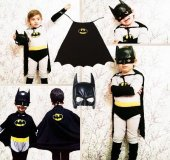 Batman Kostümü Özel Maskesi İle 3lü Set
