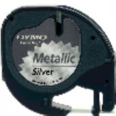 Dymo 91208 Letratag Metalik Şerit 12x4mt Gri