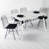 Evform Wire 4 Kişilik Masa Takımı Yemek Masası