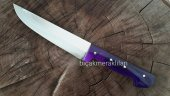 Kesim Bıçağı Yağ Çeliği 2no 30cm 3mm Mor