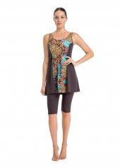 Dagi Kadın Askılı Taytlı Elbiseli Mayo Kahve B0118y0171kah