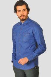 Erkek Mavi Spor Gömlek