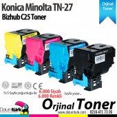Konica Minolta Tnp 27 Bizhub C25 Renkli Orjinal Fotokopi Toner