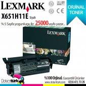 Lexmark X651h11e X615de X650 X651 X652de Mfp X652 Mfp X654 X654de X656dte Mfp X656 Mfp X658de X658 X658dtme Orjinal Toneri 25k