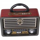 Nostalji 113bt Bluetootlu Kumandalı Usb Sd Mp3 Şarjlı Radyo