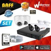 Güvenlik Kamerası 4 Kameralı 1mp Ahd 3mp Sony Lens Full Set