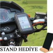 Motosiklet Bisiklet Atv Telefon Tutucu Tutacağı Su...