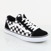 Erkek Old Skool Siyaz Beyaz Damalı Sneaker Old Skool Ayakkabı