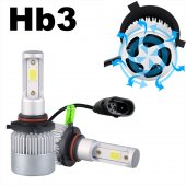 Hb3 9005 Led Xenon Set Şimşek Etkili 8000 Lümen 6500 K 36 Watt Zenon Far