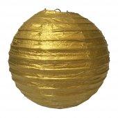 1 Adet Kikajoy Altın Dekor Fener 30 Cm