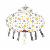 1 Adet Kikajoy Yıldızlı Uzay Mekiği Folyo Balon 81 X 78 Cm