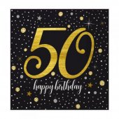 20 Adet Kikajoy Işıltılı Doğum Günü 50 Yaş Kağıt P...