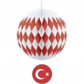 Kikajoy Kırmızı Beyaz Türk Bayraklı Petek Süs