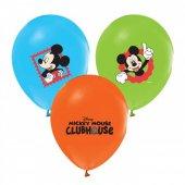 100 Adet Çift Taraflı Mickey Mouse Baskılı Balon
