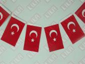400 Adet İpli Mini Türk Bayrağı 8 Cm X 13 Cm