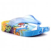 Gezer 9797 Mavi Günlük Plaj Havuz Parmakarası Erkek Çocuk Terlik