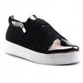 Nexs 108k Siyah Aynalı Günlük Bayan Spor Ayakkabı
