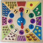 Eğitici Ahşap Rakamlı Bultak Puzzle Saat Oyunu Ahşap Oyuncak