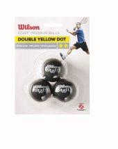 Wilson Squash Topu Staff 3 Dbl Yel Dot Wrt618100