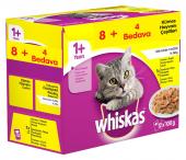 Whiskas Pouch Multipack Kümes Hayvanı Çeşitleri Karışık Konserve Kedi Maması 12x100 Gr (12li Paket)