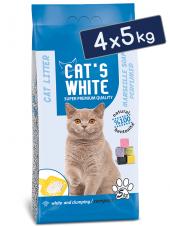 Cats White Marsilya Sabun Kokulu Topaklaşan Doğal Bentonit Kedi Kumu 6 Lt 5 Kg (4 Adet)