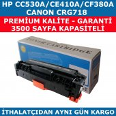 Hp 304a Cc530a 3.500 Sayfa Muadil Toner 305a Ce410a Cf380 Crg718