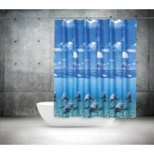 Zethome Tropik Banyo Duş Perdesi 8852 Tek Kanat 1x...