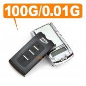 Araba Anahtarlığı Şeklinde Gizli Hassas Terazi 100gr 0.01