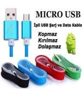 Micro Usb Şarj Ve Data Kablosu İp Örgülü Kopmaz 1.5 Metre