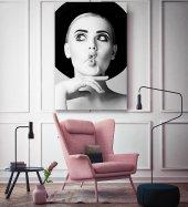 Vintage Kadın Model Siyah Beyaz