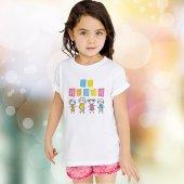 Kişiye Özel 23 Nisan Tasarımlı Beyaz Çocuk Tişört (50 Adet) K