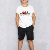 Kişiye Özel 23 Nisan Tasarımlı Beyaz Çocuk Tişört (100 Adet) E