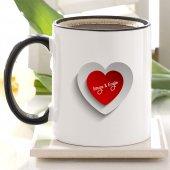 Kişiye Özel Siyah Kupa Bardak (Sevgililer Günü Temalı 41)