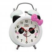 Renkli Işıklı Zilli Panda Çocuk Odası Çalar Masa Saati Stm133
