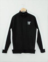 11 Degress Siyah Ceket Beyaz Şerit