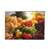 Dekoratif Cam Kesme Tahtası Karışık Meyve